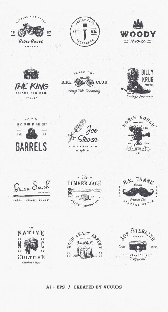 如果你的项目预算有富余,可以尝试购买一些付费素材。只需要花费$14-25(1500-3000日元)这样实惠的价格,就能获得丰富的高品质logo用素材。 120 Elegant Logo Pack BUNDLEPSD / Ai 以优雅时尚的logo设计为中心,120种素材模版,对应Photoshop和Illustrator。  Ladyboss Premade Branding Logo PackPSD / Ai 使用了具有人气的笔刷手写字体,强调出女性魅力的300种设计套件。一起使用将会使你的项目具有时尚
